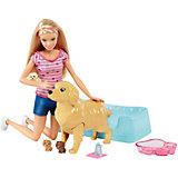 """Набор с куклой Barbie """"Барби и собака с новорожденными щенками"""""""