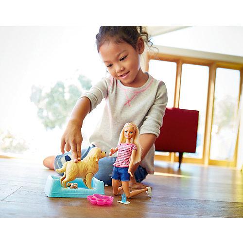 """Набор с куклой Barbie """"Барби и собака с новорожденными щенками"""" от Mattel"""