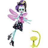 Мини-кукла Monster High «Цветочные Монстры» Стрекоза Вингрид с питомцем, 13 см