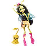Мини-кукла Monster High «Цветочные Монстры» Пчела Беатрис с питомцем, 13 см