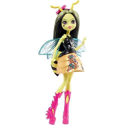 Мини-кукла Monster High «Цветочные Монстры» Пчела Беатрис с питомцем, 13 см от Mattel