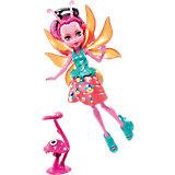 Мини-кукла Monster High «Цветочные Монстрики» Светлячок Люмина с питомцем, 13 см