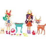 Набор из двух кукол с любимыми зверюшками Enchantimals