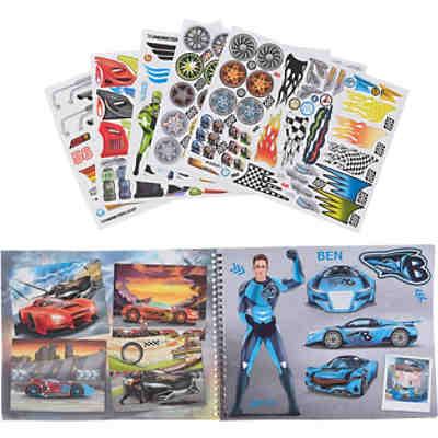 Pocket Malbuch Monster Cars Inkl Sticker Sortiert Depesche