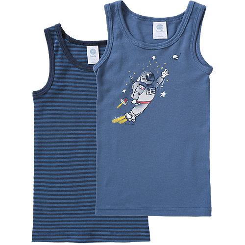 Sanetta Doppelpack Unterhemden Astronaut, Organic Cotton Gr. 104 Jungen Kleinkinder | 04055502596212