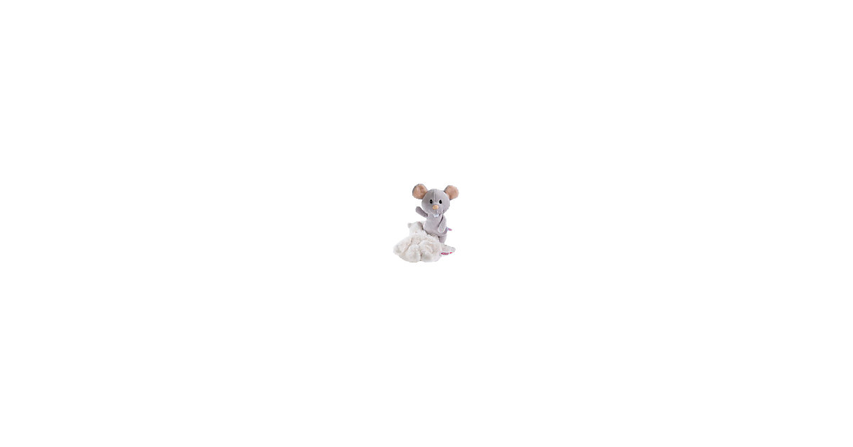 Maus mit Katzen-Overall, 20 cm Schlenker