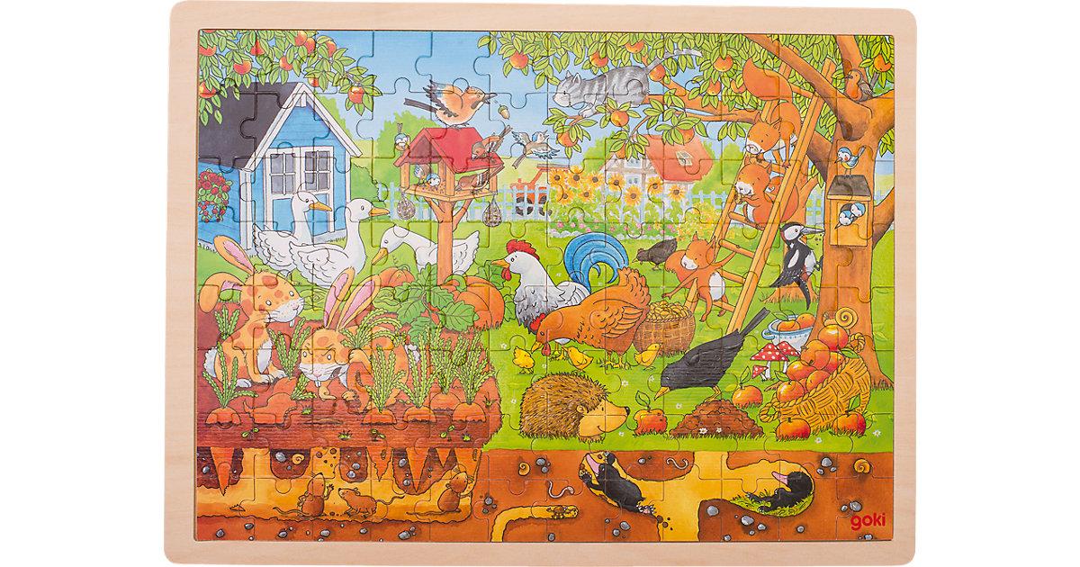 Holzpuzzle 96 Teile Unser Garten über und unter der Erde
