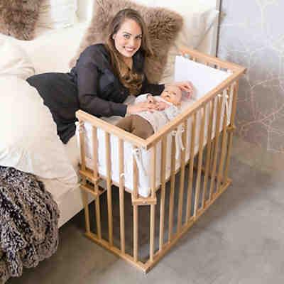 beistellbett babybay original natur lackiert extra. Black Bedroom Furniture Sets. Home Design Ideas