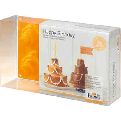 3D-Vollbackform Stufentorte Happy Birthday