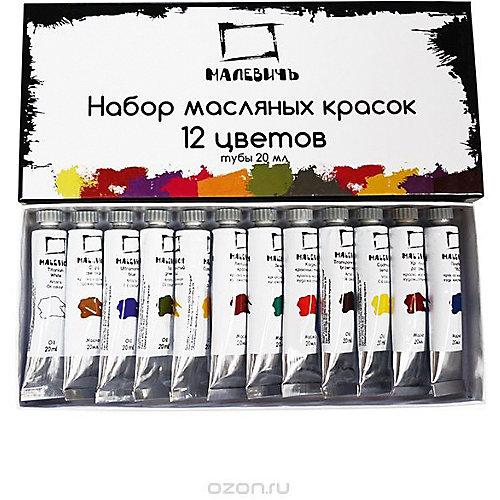 Набор масляных красок Малевичъ, 12 цветов (20 мл) от Малевичъ