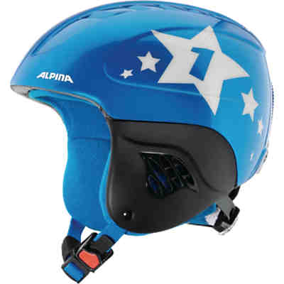Skihelm Carat blue star metallic