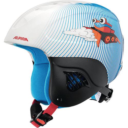 """Зимний шлем Alpina """"CARAT"""" snowcat - голубой/белый"""