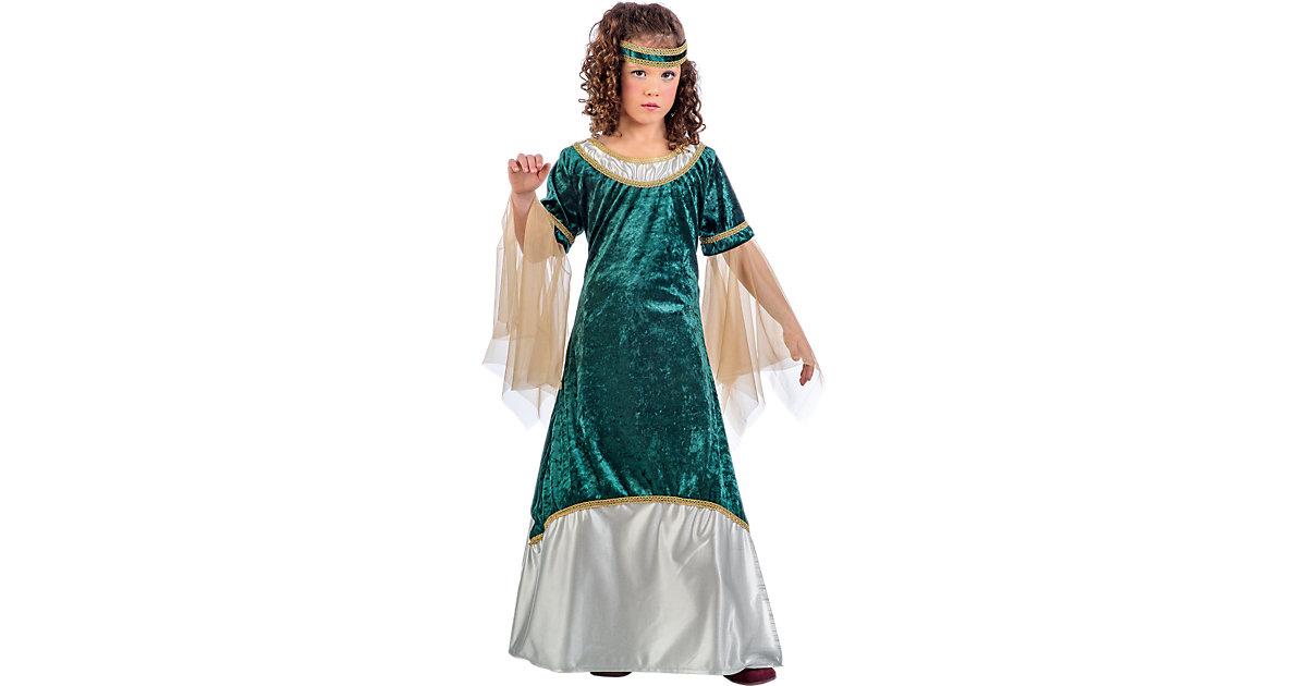 Kostüm Mittelalterliches Mädchen Olivia grün, 2...