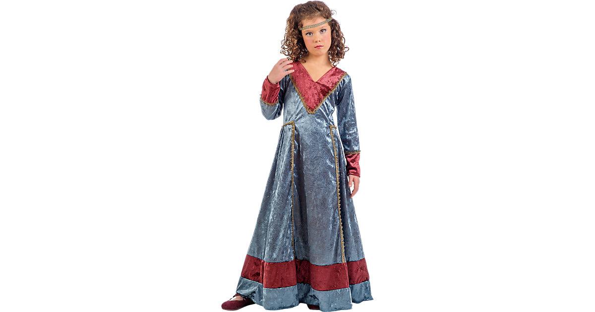 Kostüm Königin Jimena blau, 2-tlg. bordeaux/blau Gr. 116/128 Mädchen Kinder