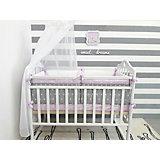 Комплект в кроватку 5 предметов By Twinz, Звезды, розовый