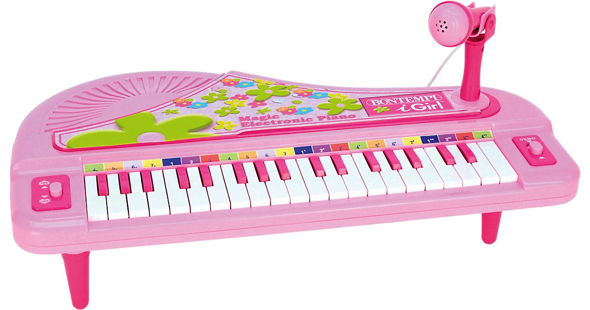Elektronisches Keyboard mit Mikrofon, pink