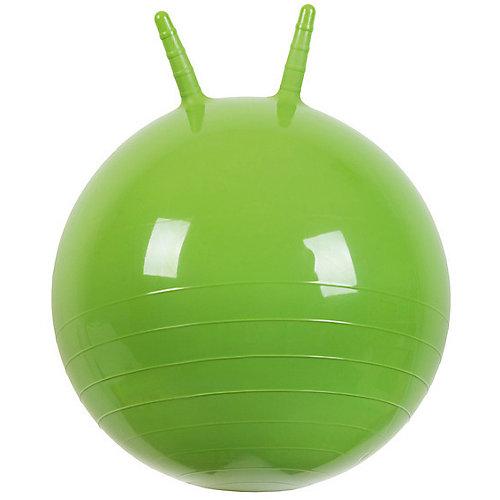 """Мяч Прыгун с рожками, 50 см, зеленый, """"МалышОК"""" от Малышок"""