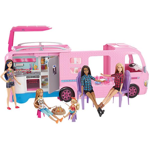 barbie super abenteuer camper gratis puppe barbie mytoys. Black Bedroom Furniture Sets. Home Design Ideas