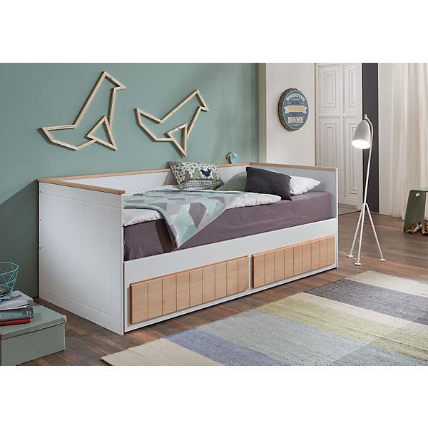 Einzelbetten Mit Bettkasten einzelbett timmi inkl bettkasten und rollrost buche massiv