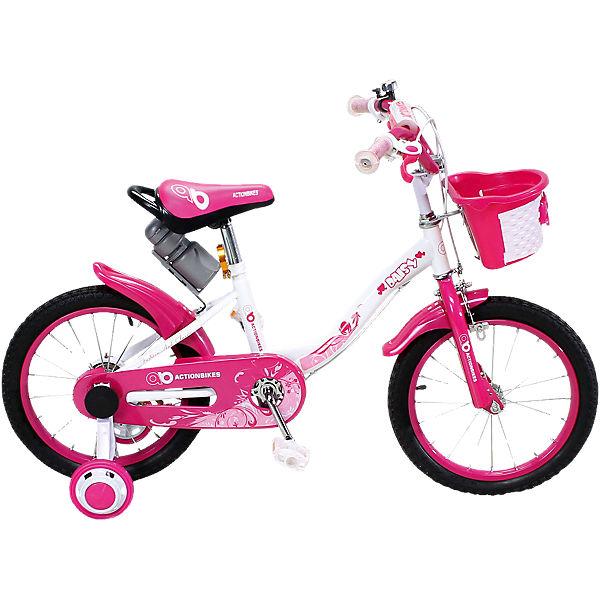 f01688bb8f7142 Actionbikes Kinderfahrrad Daisy 16 Zoll, pink,