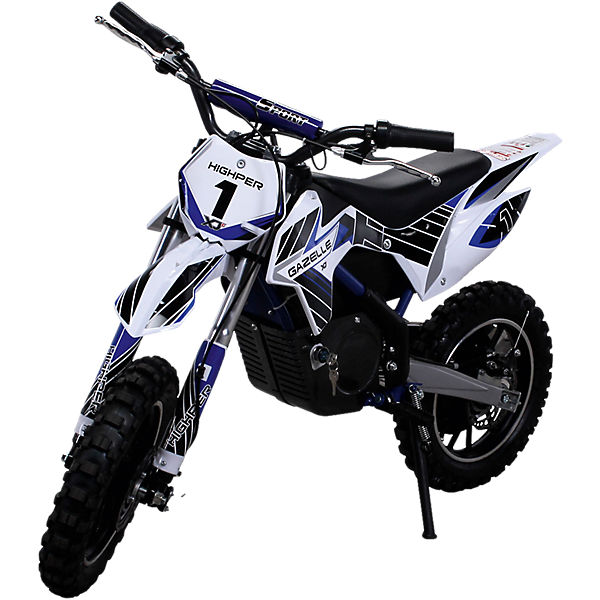 Kinder Mini Crossbike Gazelle 500 Watt verstärkte Gabel, blau,