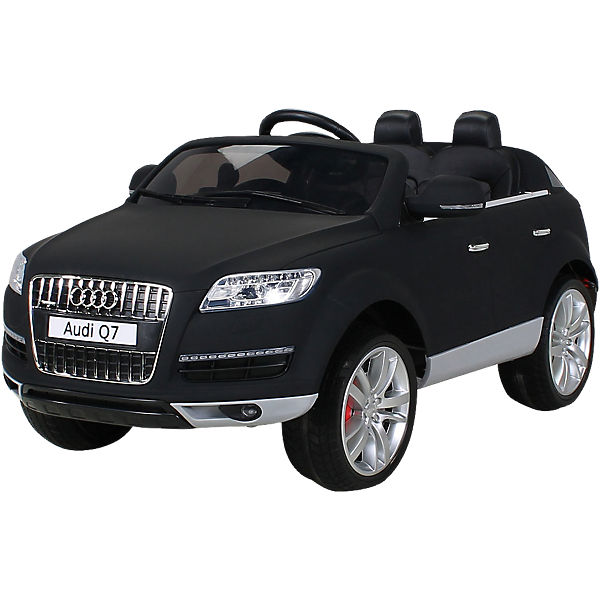 kinder elektroauto audi q7 suv lackiert matt schwarz. Black Bedroom Furniture Sets. Home Design Ideas
