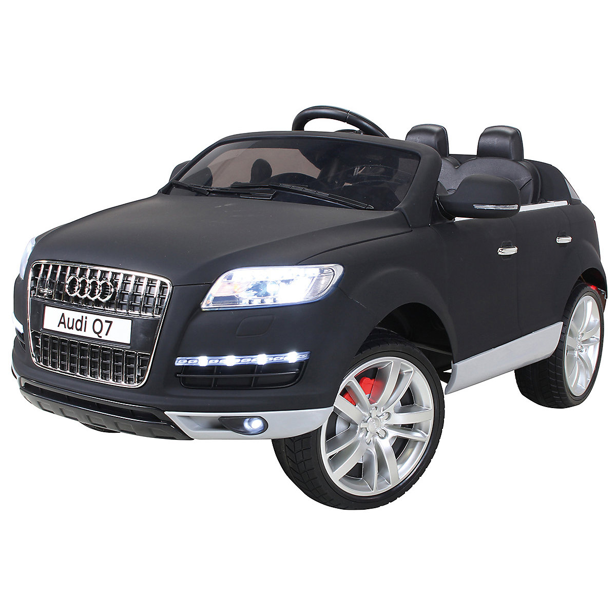kinder elektroauto audi q7 suv lackiert matt schwarz mytoys. Black Bedroom Furniture Sets. Home Design Ideas