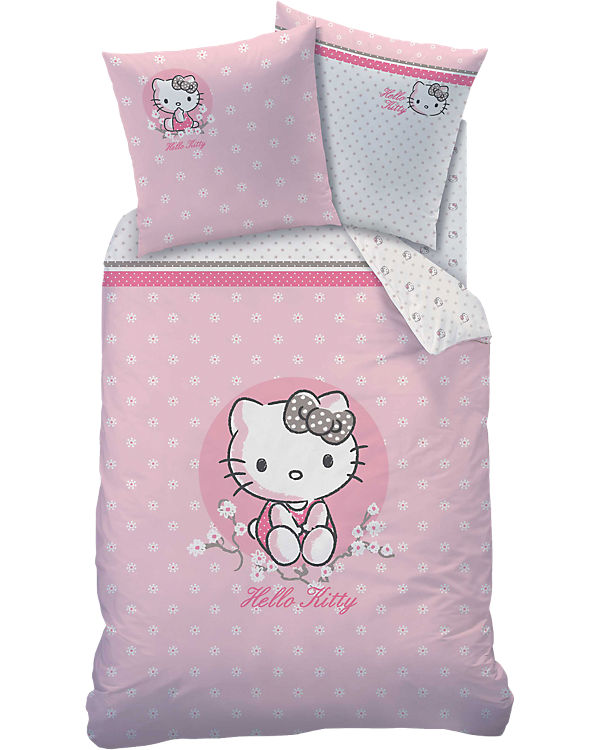 Wende Kinderbettwäsche Hello Kitty Renforcé 135 X 200 Cm Hello