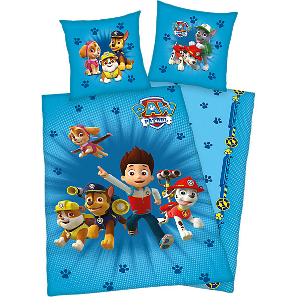 wende kinderbettw sche paw patrol flanell 135 x 200 cm paw patrol mytoys. Black Bedroom Furniture Sets. Home Design Ideas
