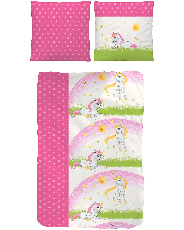 kinderbettw sche einhorn renforc 135 x 200 cm mytoys. Black Bedroom Furniture Sets. Home Design Ideas