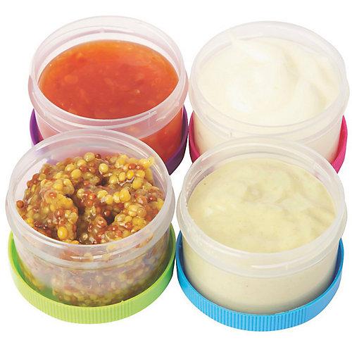 sistema 4-tlg. Frischhaltebehälter Set ´´To Go´´ Saucen & Dressings, mit Schraubdeckel Erwachsene