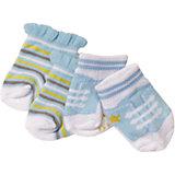Носочки BABY born, 2 пары, голубые