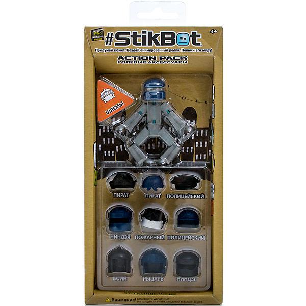 Фигурка с аксессуарами Шлемы, Stikbot, синий