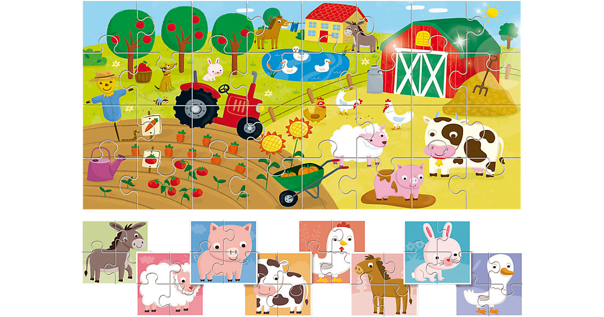 8 +1 Baby Puzzles - Bauernhof