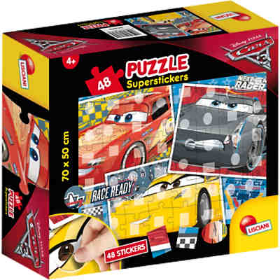 Puzzle Superstickers 48 Teile - Cars 3