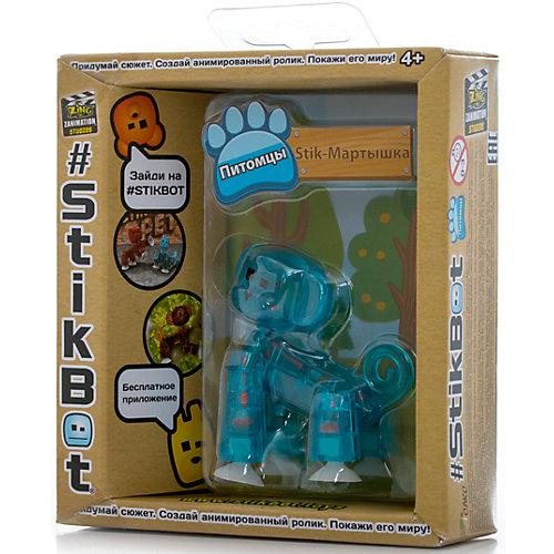 Фигурка питомца Мартышка, синяя, Stikbot от Zing