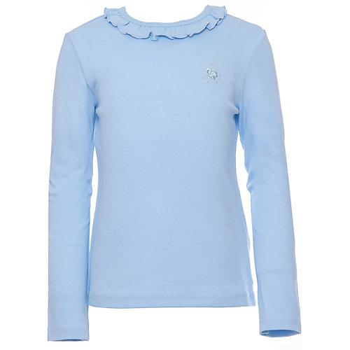 Футболка с длинным рукавом для девочки Белый снег - голубой от Снег