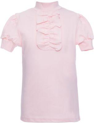 Водолазка для девочки Белый снег - розовый