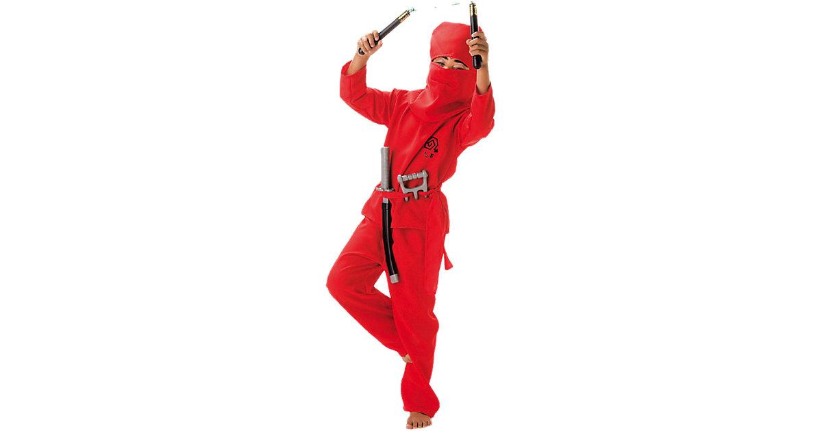 Kostüm Roter Ninja, 2-tlg. rot Gr. 152 Jungen Kinder