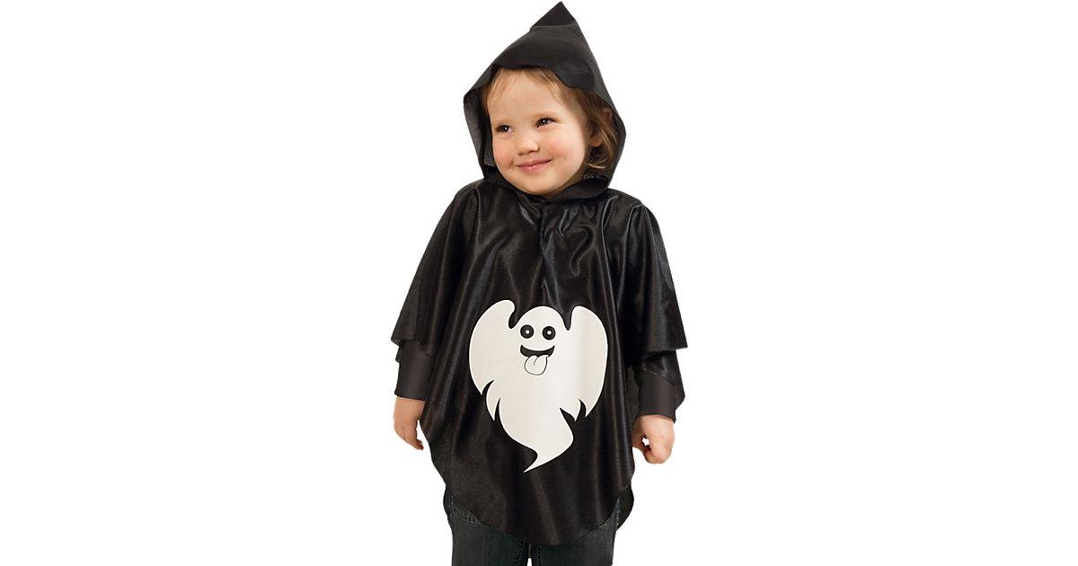 Kostüm Cape Kleiner Geist schwarz/weiß Gr. 104/116
