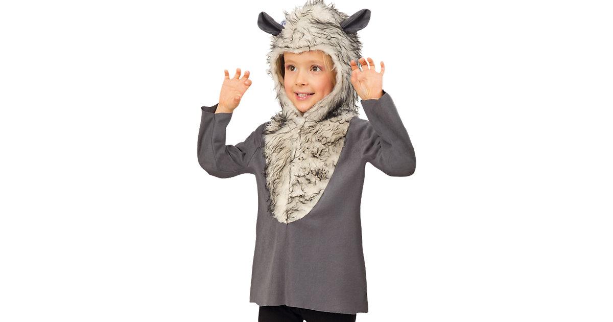 Kostüm Wolf grau Gr. 116 Jungen Kinder
