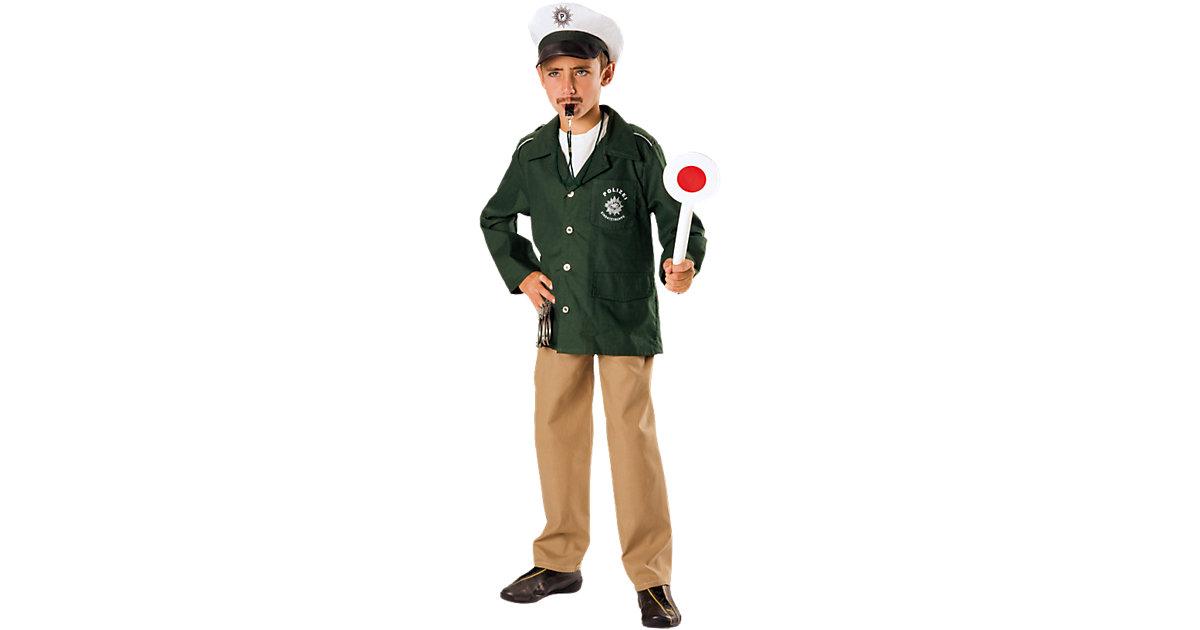 Kostüm Polizist, 2-tlg. grün Gr. 128 Jungen Kinder