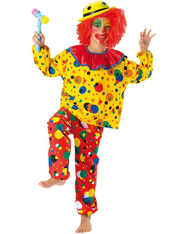 Kostüm Clown Jupp, 2-tlg., Kunterbunt