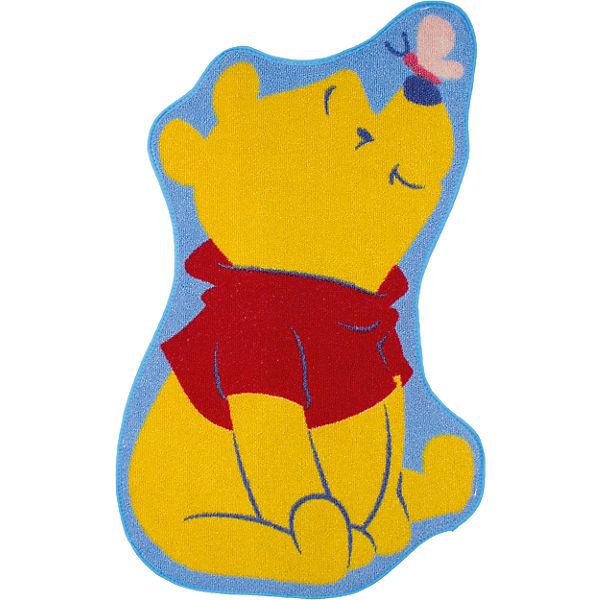 Kinderteppich Winnie mit Schmetterling, gelb, 50 x 80 cm, Disney Winnie Puuh