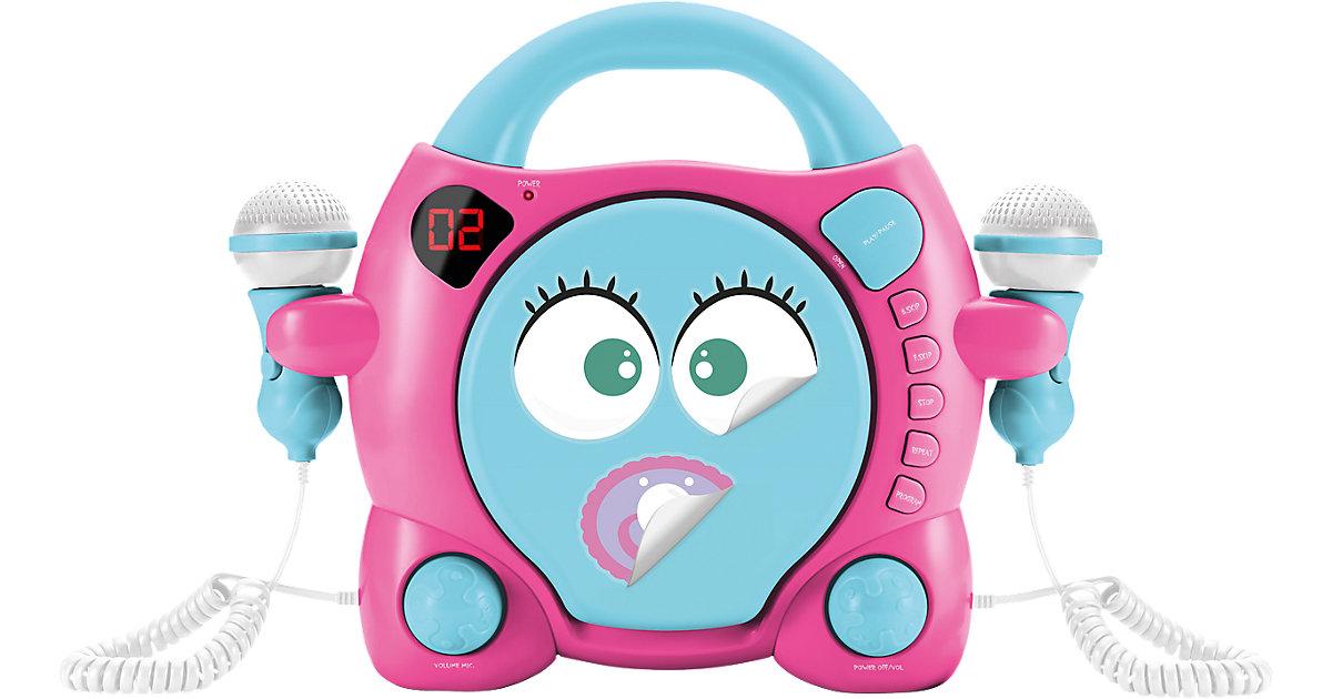 Kinder CD-Player Girl mit 2 Mikrofonen, türkis ...