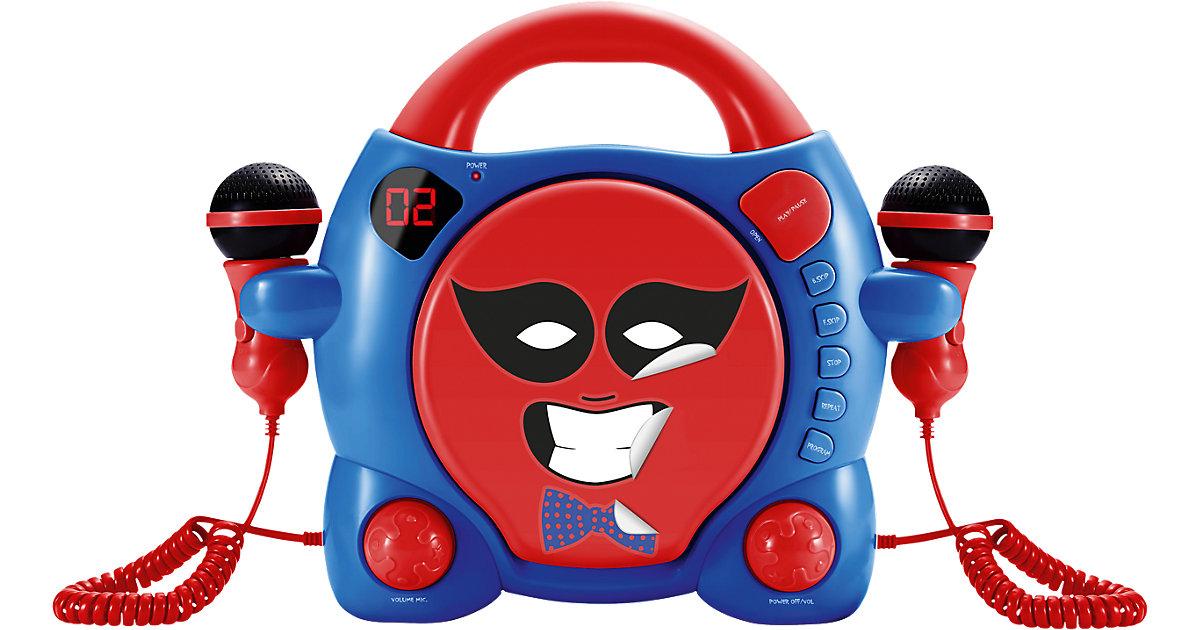 Kinder CD-Player Boy mit 2 Mikrofonen, rot & blau