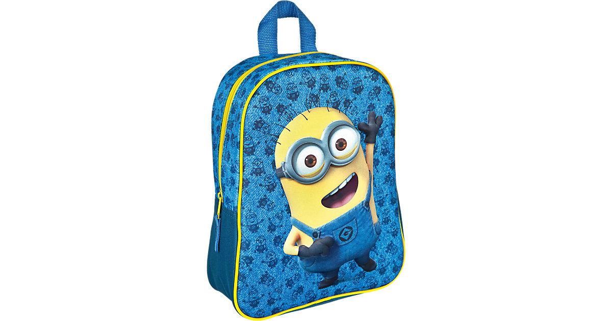 3D Kinderrucksack Minions blau-kombi