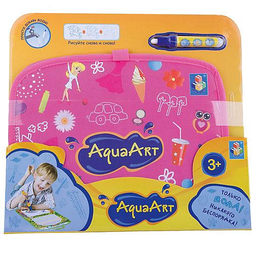 Коврик для рисования, розовый, 1toy AquaArt от 1Toy