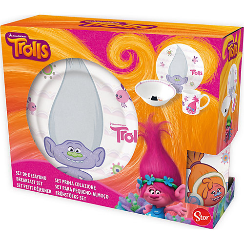 """Набор керамической посуды Stor """"Тролли"""" - разноцветный от Stor"""