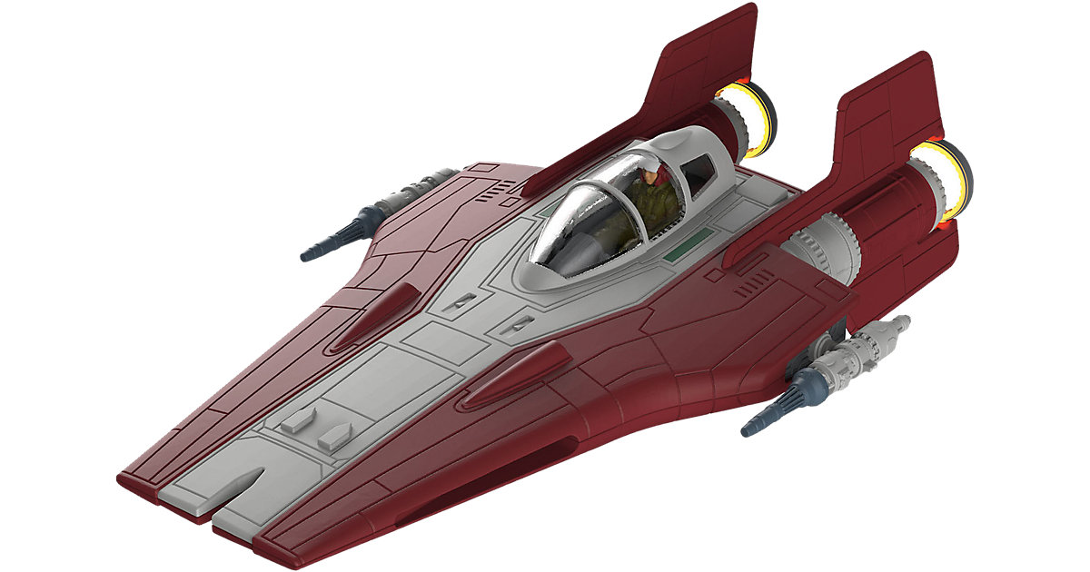 Revell Modellbausatz Build & Play - Star Wars Resistance A-Wing Fighter, rot